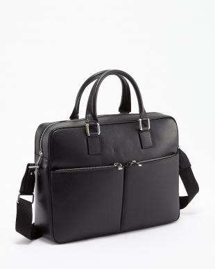 ブラック フロント2ポケットビジネスバッグを見る
