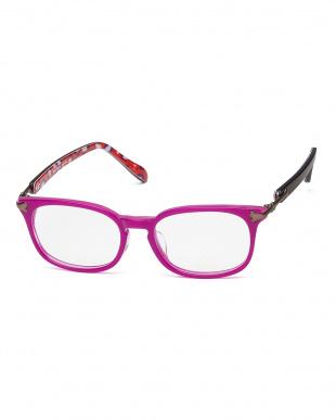 ピンクパープル ボーンモチーフヒンジフレーム|WOMENを見る