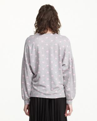 ピンク ボリューム袖ドットニットソーを見る
