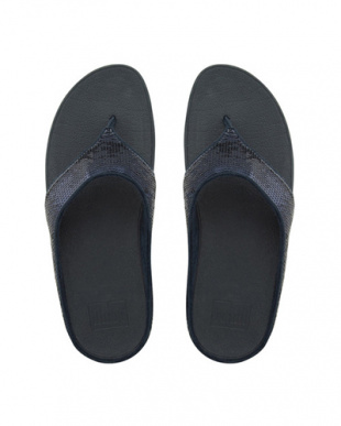 SNAVY Navy Ringer Sequin Toe-Postを見る