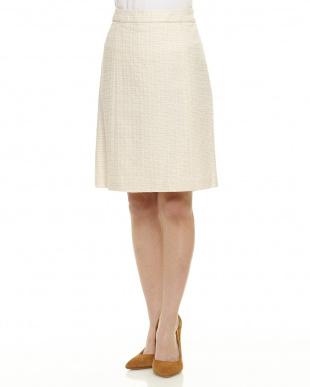 OFF WHITE B:ラメ混ツィードスカート見る