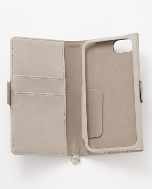グレー iPhone8/7/6s/6用 ドローイングハート2手帳型ケースを見る