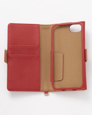 レッド iPhone8/7/6s/6用 ドローイングハート2手帳型ケースを見る