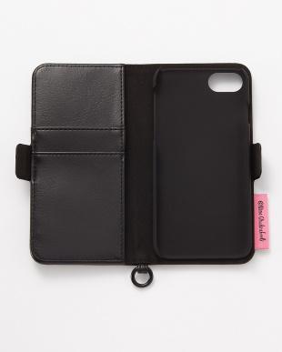 ブラック iPhone8/7/6s/6用 ニナ・チャクラバーティ 手帳型ケース見る