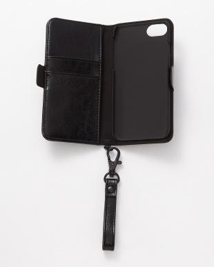 ブラック iPhone8/7/6s/6用 パンチング手帳型ケース|UNISEXを見る