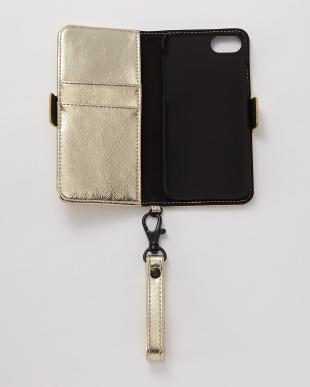 ゴールド iPhone8/7/6s/6用 パンチング手帳型ケース|UNISEX見る
