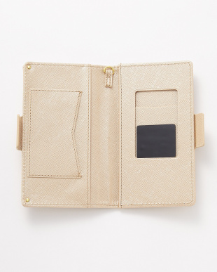 ゴールド ポケット付き スマートフォン用手帳型マルチケースを見る
