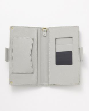 グレー ポケット付き スマートフォン用手帳型マルチケースを見る
