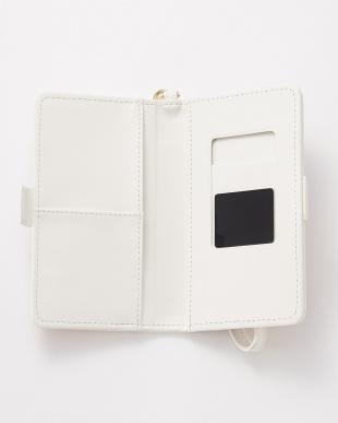 ホワイト 水彩フラワー スマートフォン用手帳型マルチケースを見る