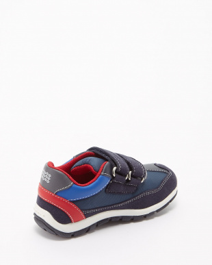 NAVY/RED SNEAKERS B SHAAX B スニーカー見る