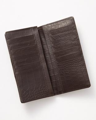 ダークブラウン クロコダイル長財布を見る