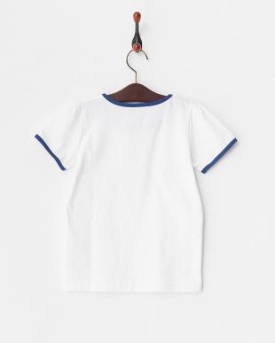 ブルー トリミング半袖Tシャツ ENFANTを見る