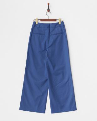 ブルー サイドベンツパンツ見る
