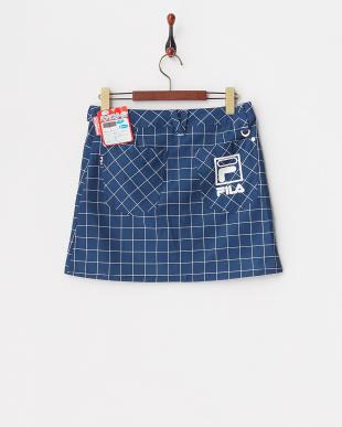 NV レディス チェック柄ストレッチスカートパンツ 撥水加工を見る