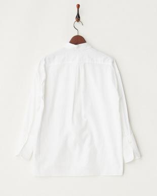 ホワイト ホワイト コクーンシャツ見る