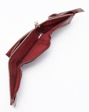 BRONZE RED リボン三つ折り財布見る