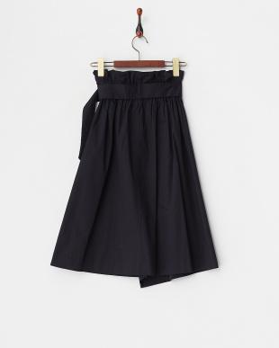 ネイビー ハイウエスト飾りボタンスカートを見る
