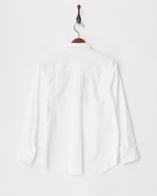 ホワイト ソフトオックスベーシックシャツ見る