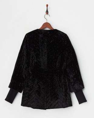 ブラック クロ ベルベットキルティングコートを見る