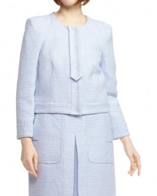 BLEU NUIT ショルダータックデザインジャケットを見る