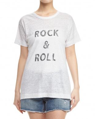 BLANC WALK LIN PRINT スラブTシャツ見る
