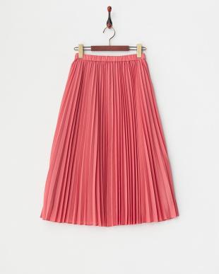 ピンク アコーディオンプリーツミディスカートを見る