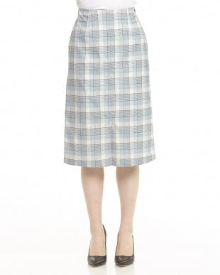 BEIGE T/Rチェックタイトスカートを見る