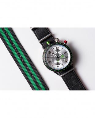 シルバー AKS センタークロノグラフ腕時計|MEN見る
