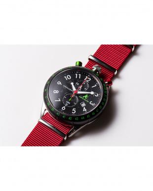ブラック AKS センタークロノグラフ腕時計|MEN見る