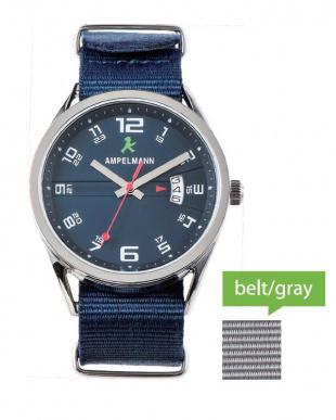 ネイビー ASC ラウンド腕時計|UNISEX見る