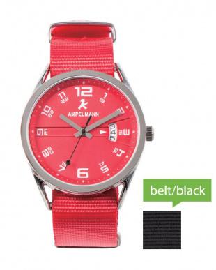 レッド ASC ラウンド腕時計|UNISEX見る