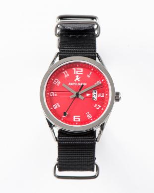 レッド ASC ラウンド腕時計(小)|UNISEX見る