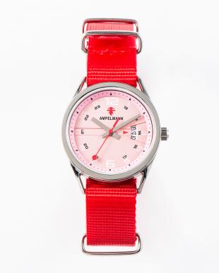 ピンク ASC ラウンド腕時計(小)|UNISEX見る