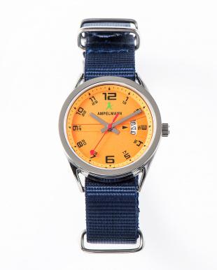 オレンジ ASC ラウンド腕時計(小)|UNISEX見る