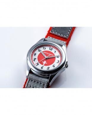 レッド×グレー AMA 3針モデル腕時計|KIDSを見る