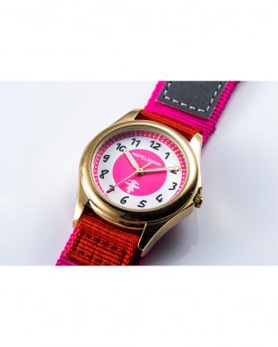 ピンク×レッド AMA 3針モデル腕時計|KIDSを見る