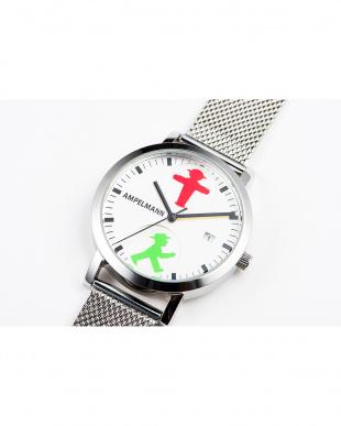 シルバー AFC 信号機 メッシュベルト腕時計|UNISEX見る