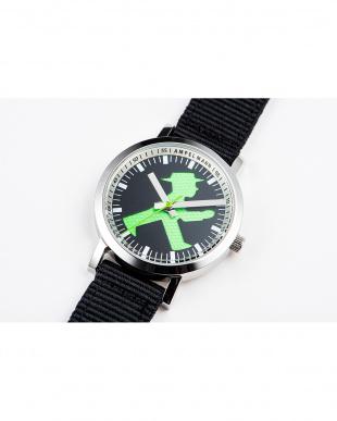 ブラック×グリーン AFB 信号機 腕時計|UNISEX見る