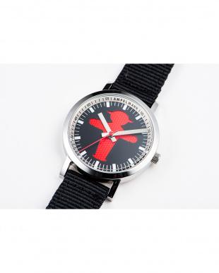 ブラック×レッド AFB 信号機 腕時計|UNISEX見る