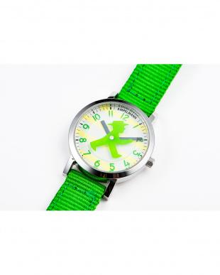 グリーン×イエロー AFB ディスク秒針腕時計|UNISEX見る
