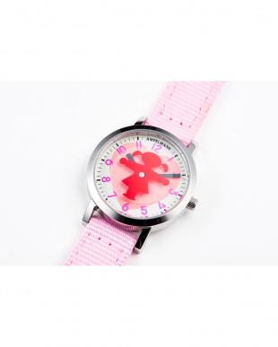 シルバー×ピンク AFB ディスク秒針腕時計|UNISEX見る