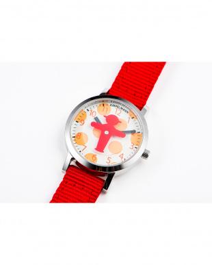 レッド×オレンジ AFB ディスク秒針腕時計|UNISEX見る