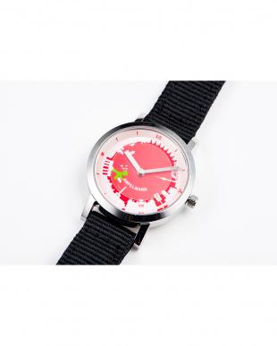 レッド×グリーン AFB ドイツ街並み ディスク秒針腕時計|UNISEX見る