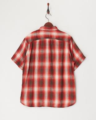 RED ダブルガーゼチェックシャツ見る