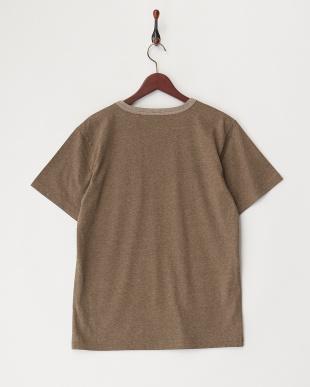 BROWN ARMYプリント刺繍Tシャツ見る