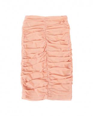 ピンク シャーリングチュールスカートを見る