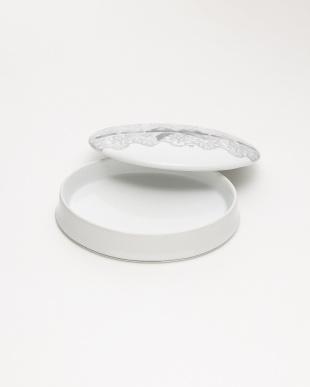 ホワイト ジュエリーボックス 陶器 リボン見る