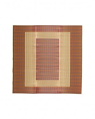ブラウン 築彩 国産い草ラグ 261×261cmを見る