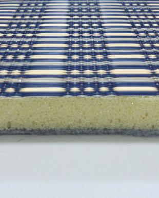 ブルー 仙名 ふっくらい草ラグ 180×180cmを見る