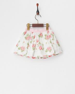 シロxピンク シロ×ピンク 花柄プリントスカート(12M~)を見る